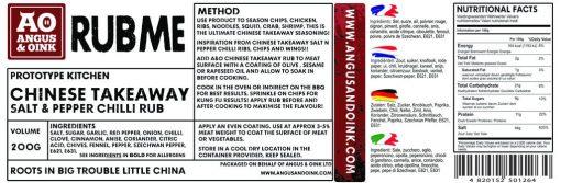 CHINESE TAKEAWAY SALT & PEPPER RUB