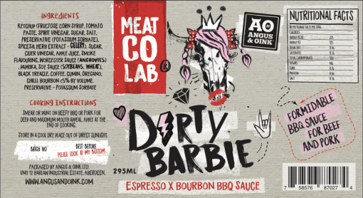 Dirty Barbie BBQ Sauce angus and oink