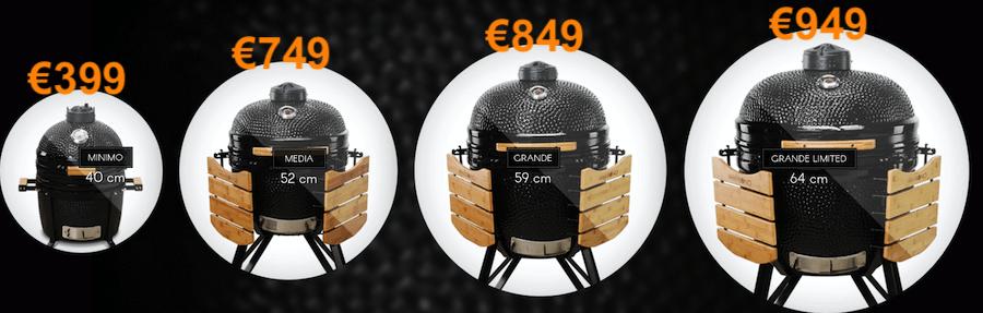 kamado bono range available from Godwood Fuel Drogheda